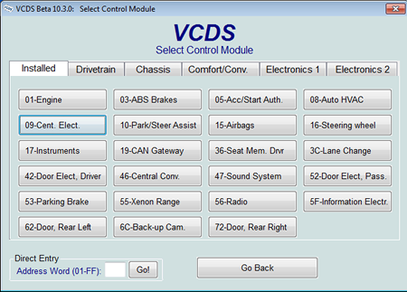 AudiEnthusiasts VCDS Adaptation Map